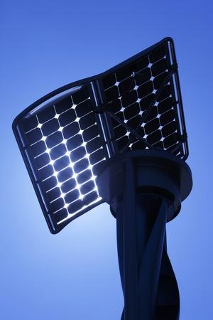 太陽光発電や風力発電設備 写真素材 - 47198430