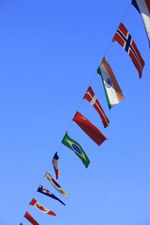 pleasent: Country flags type Stock Photo