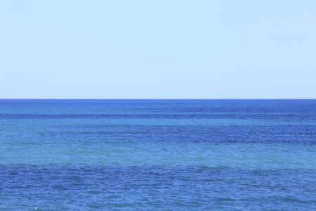 七里御浜の地平線 写真素材