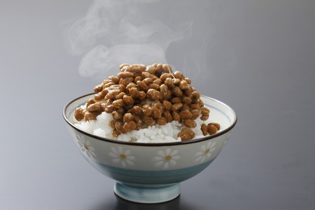 glycine: Natto meal Stock Photo