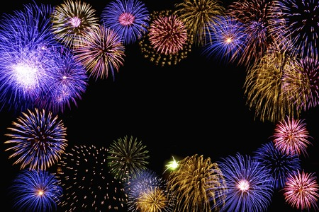 background material: Fireworks images