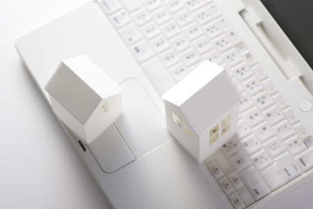 personal computer: House made with personal computer and paper
