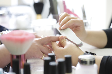 nailcare: Manicurist Stock Photo