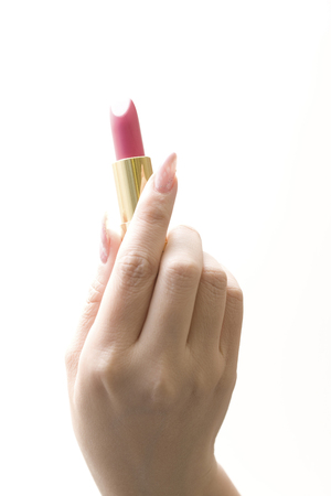 esthetic: Lipstick on a woman Stock Photo