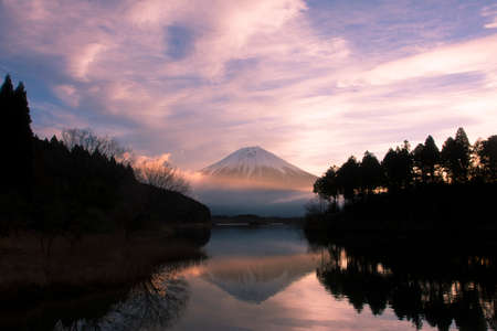 Mount Fuji from Lake Tanuki photo