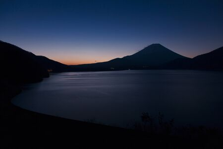 Dawn view from motosu Lake Mt. photo