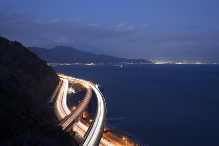 toge: Fuji night view from Sacchan was pass