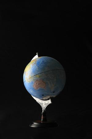 teaching material: World globe Stock Photo