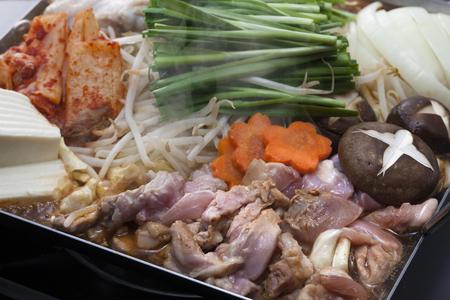 stamina: Chicken and kimchi pot