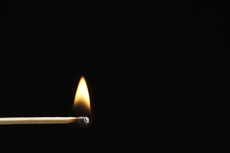 Match with a flame