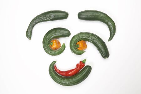 irregularity: Face of vegetables Stock Photo