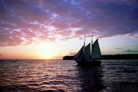 key west: Key West sunset Stock Photo