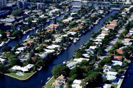 inland waterways: Waterfront Aerial