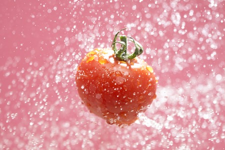bounce: Tomatoes bounce on water