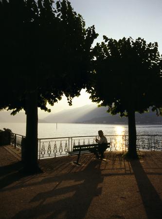 lake como: Lake Como evening