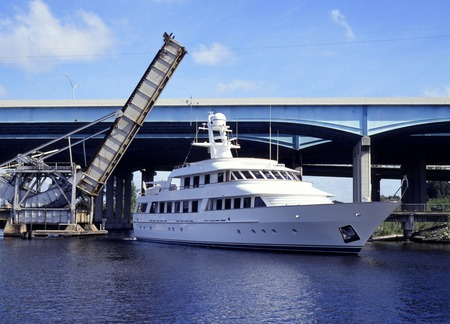 ft lauderdale: Megayachts Stock Photo
