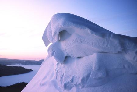 amanecer: Snow art Foto de archivo