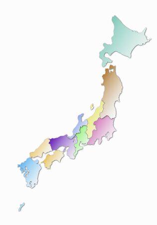 zona: Jap�n mapa de la zona archipi�lago