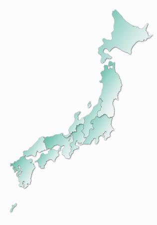 archipelago: Japanese archipelago area map Stock Photo