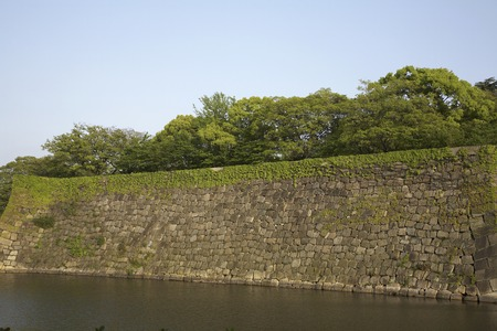 moat: Osaka Castle in the moat Stock Photo