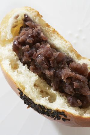 paste: Bean paste bun Stock Photo