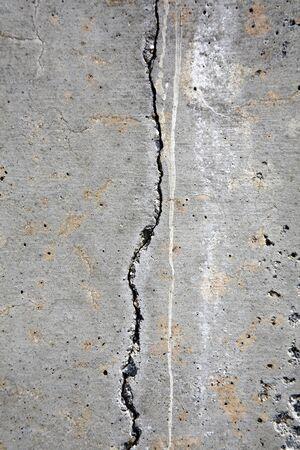 earthquake crack: Cracked concrete Stock Photo