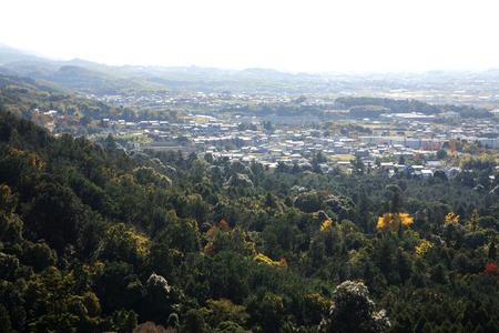 foothills: Kasugayama virgin forest foothills Stock Photo