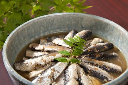 Simmered sardine 版權商用圖片