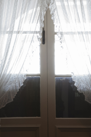 asian ancestry: Door with a curtain