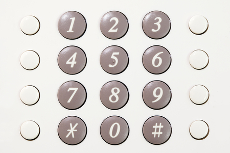 touchtone: Phone push button of