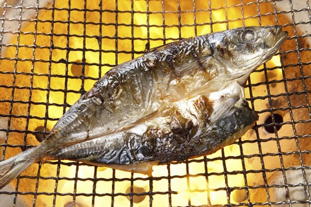 Grilled of dried fish horse mackerel