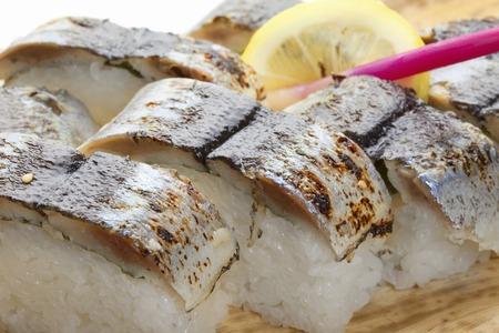 pike: Pike Aburi sushi Stock Photo