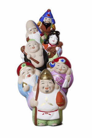 seven: Seven lucky gods Stock Photo