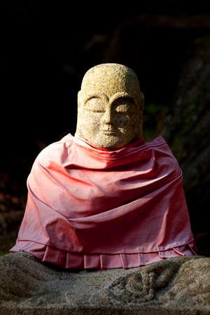 jizo: Stone Jizo Stock Photo