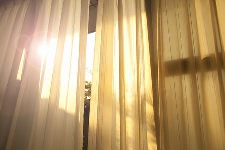Ochtend licht steek de stekker in de vensterbank Stockfoto