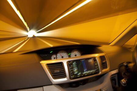 nabi: Tunnel running of the car shooting