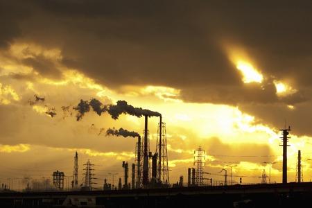 Zona industriale Sunset Archivio Fotografico - 43506876