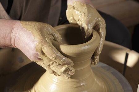 Potters wheel turning