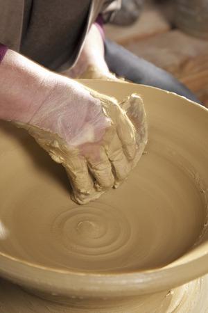 potters wheel: Potters wheel turning