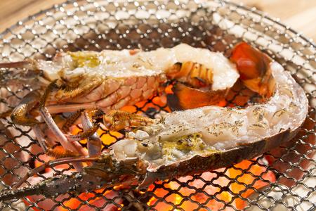 Ise shrimp demon shell grilled