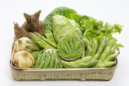 prime: Set basket prime of spring vegetables