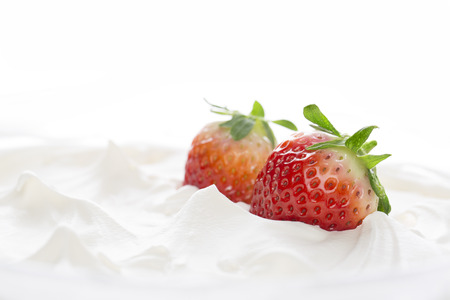 indulgent: Strawberries and whipped cream