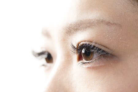 beauty eyes: Eyes of the extension Stock Photo