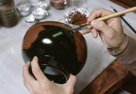lacquerware: Xiu  production Stock Photo