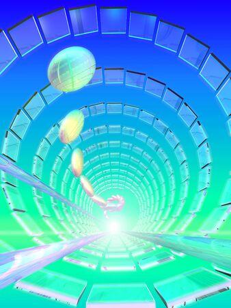 球とパネルのドーム