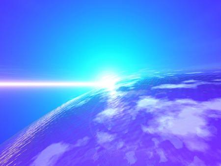 an atmosphere: atm�sfera que se extiende