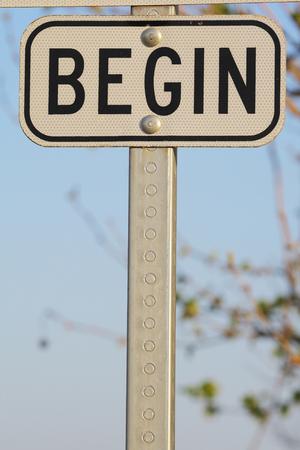 begin: BEGIN sign