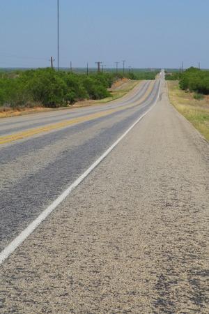 straight path: Texas 1 main road