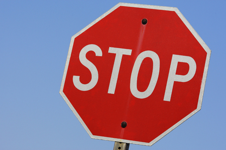 stop sign: Stop sign Stock Photo