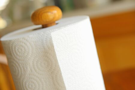 white towel: Paper towel
